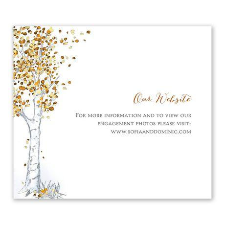 Autumn Birch Information Card