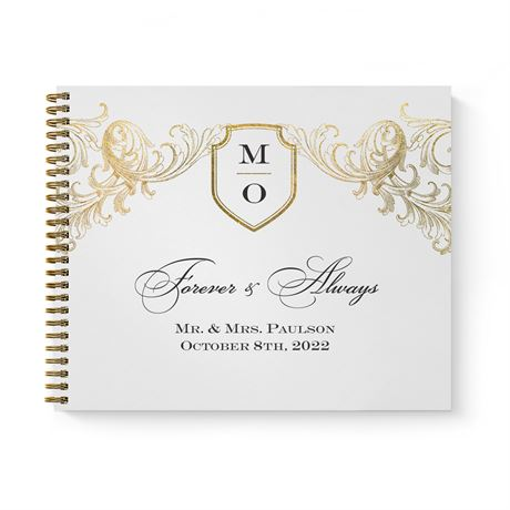 Gold Flourish - Guest Book