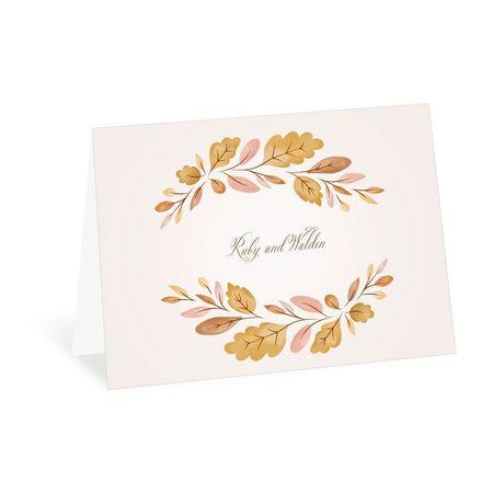 Golden Autumn - Thank You Card