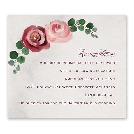 Burgundy Botanic Information Card