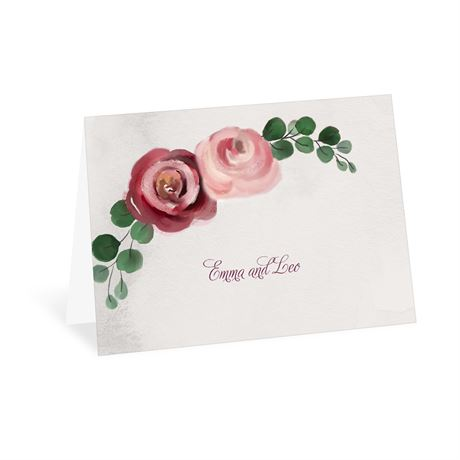 Burgundy Botanic Thank You Card