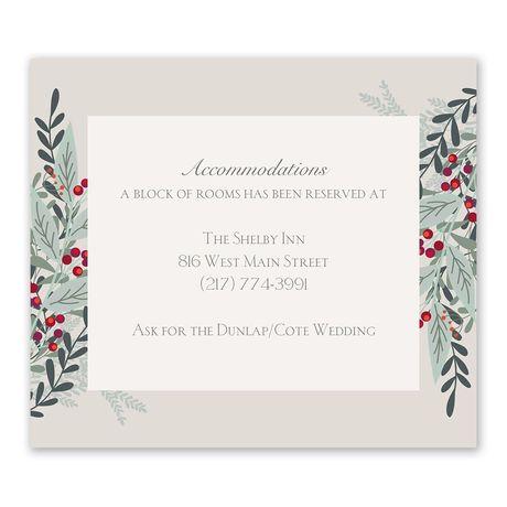 Under The Mistletoe Information Card