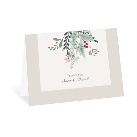 Under The Mistletoe - Thank You Card