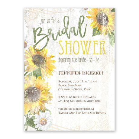 Sunflower Charm - Bridal Shower Invitation