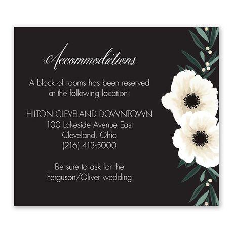 Anemone Blossom Information Card