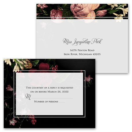Baroque Beauty - Invitation with Free Response Postcard