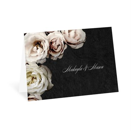 Dark Floral Thank You Card