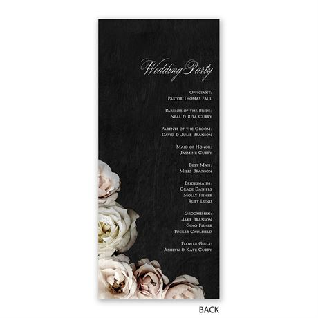 Dark Floral - Wedding Program