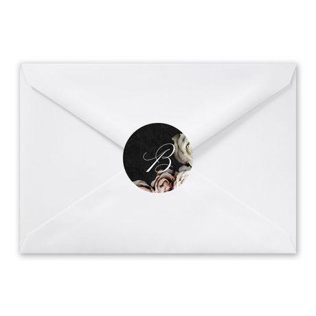 Dark Floral - Envelope Seal