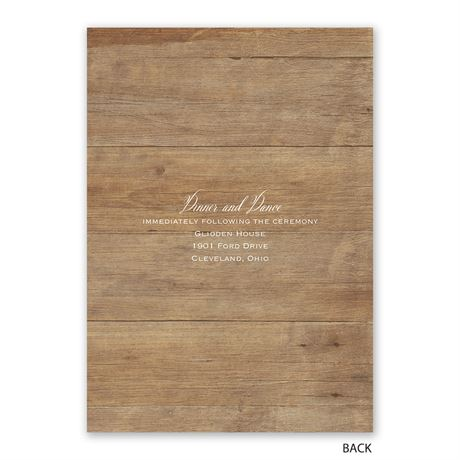 Rustic Photo - Invitation with Free Response Postcard