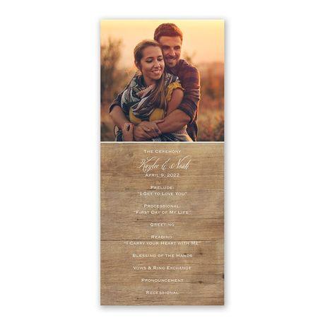 Rustic Photo Wedding Program