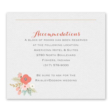 Pretty Posies Information Card