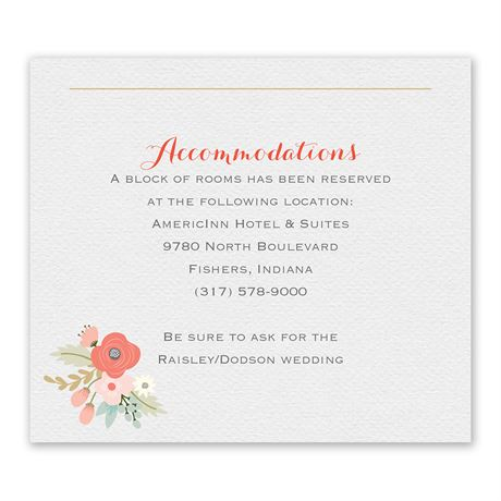 Pretty Posies - Information Card