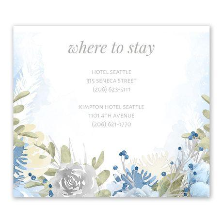 Winter Blues - Information Card