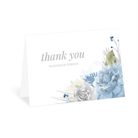 Winter Blues Thank You Card