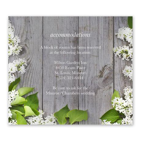 Spring Floret - Information Card