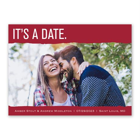 """It""""s a Date Save the Date"""