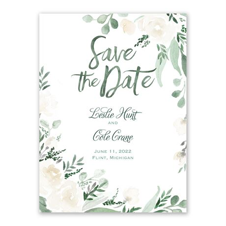 Painted Garden Save the Date