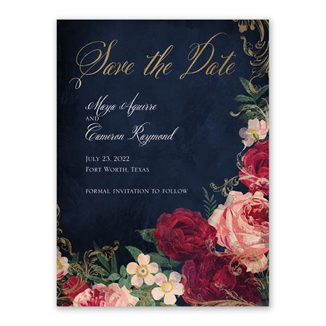 Florals and Flourishes Save the Date