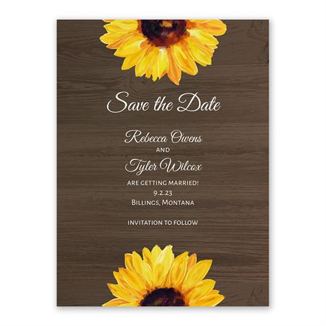Country Sunflowers - Save the Date