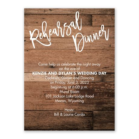 Love and Laughter - Rehearsal Dinner Invitation