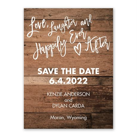 Love and Laughter - Save the Date