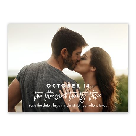 Our Love Save the Date
