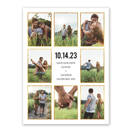 Sparkling Frames Save the Date