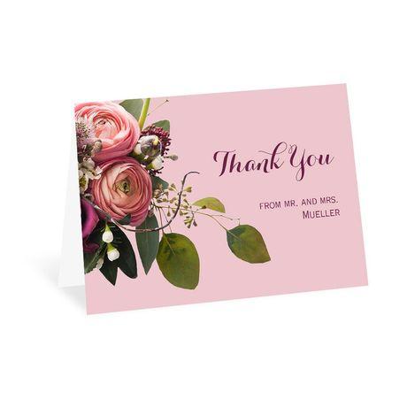 Floral Burst - Thank You Card