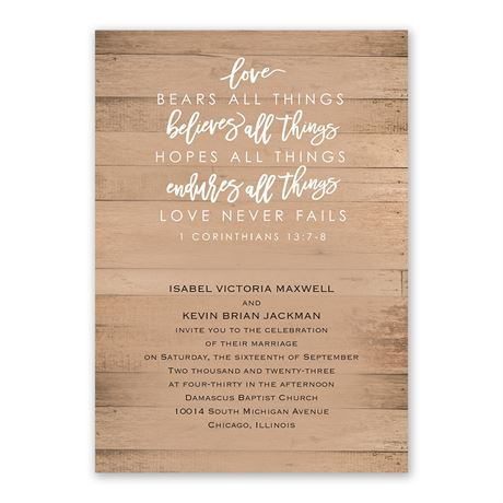 All Things - Invitation with Free Response Postcard