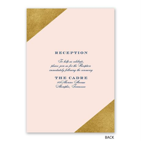 Gold Dipped - Invitation with Free Response Postcard