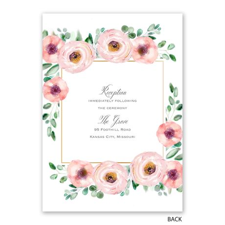Love Blooms - Invitation with Free Response Postcard