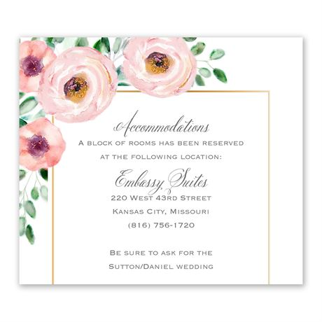 Love Blooms Information Card