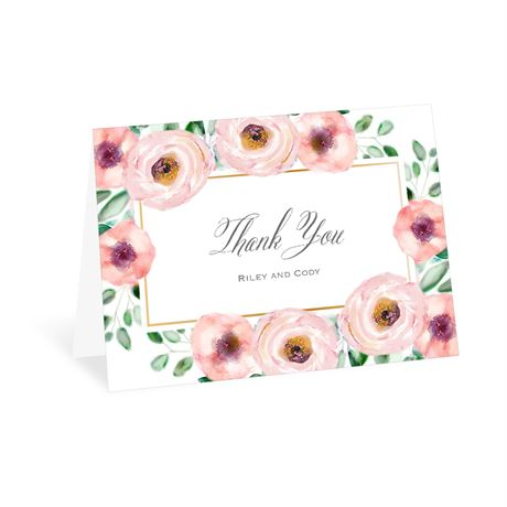 Love Blooms - Thank You Card
