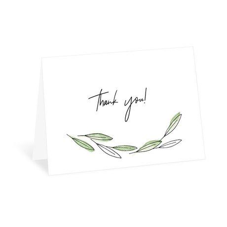 Posy Sketch - Thank You Card
