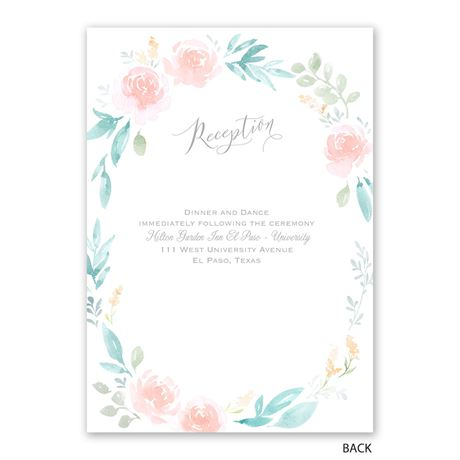 Love Believes - Invitation with Free Response Postcard