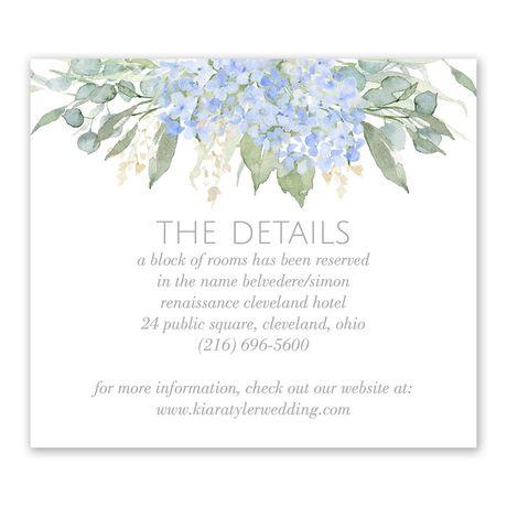 Blue Hydrangea Information Card