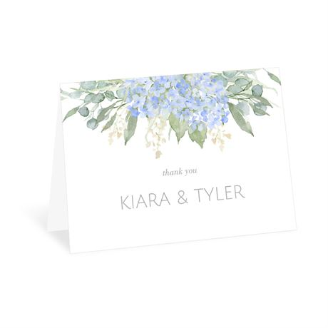 Blue Hydrangea - Thank You Card