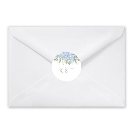 Blue Hydrangea - Envelope Seal