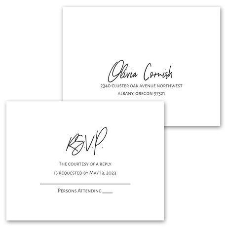 Modern Photo - Invitation with Free Response Postcard