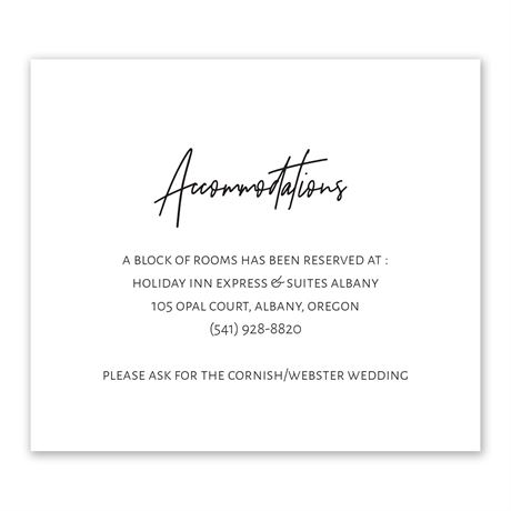 Modern Photo - Information Card