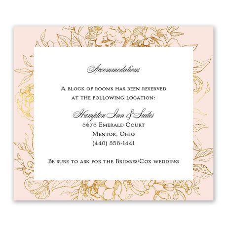 Gilded Garden Information Card