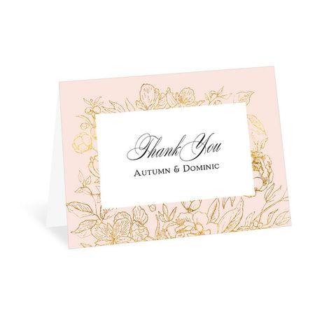 Gilded Garden - Thank You Card