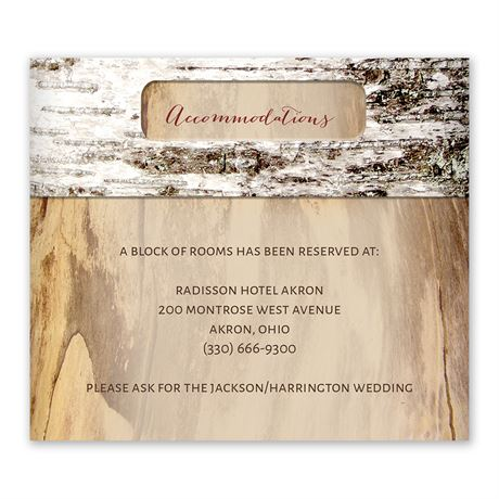 Carved Birch Information Card