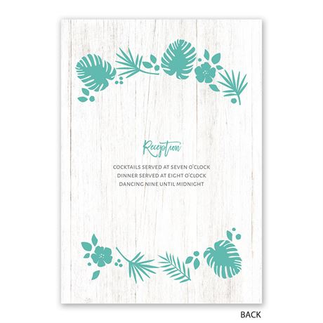 Tropical - Invitation with Free Response Postcard