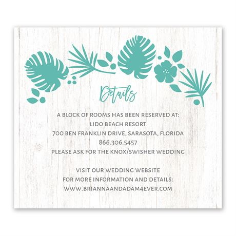 Tropical Information Card