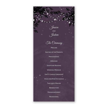 String of Lights - Wedding Program
