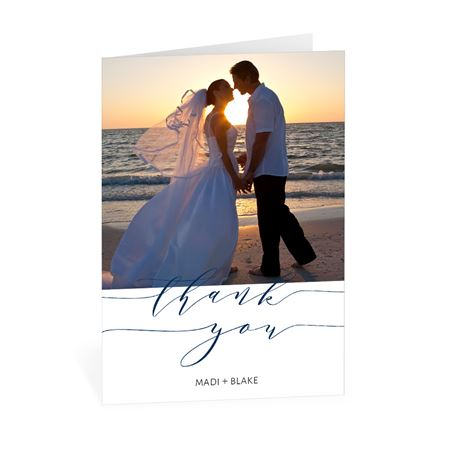 Swept Away Thank You Card