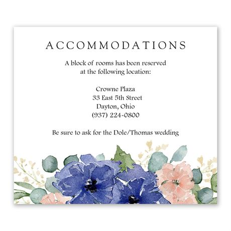 Painted Blooms Information Card