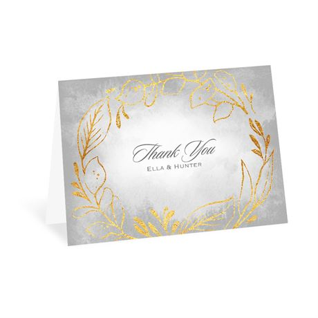 Golden Ring  - Thank You Card